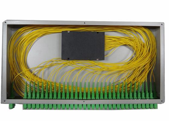 1x16 θραύστης οπτικής ίνας PLC για τοποθετημένο το ράφι τελικό κιβώτιο ινών