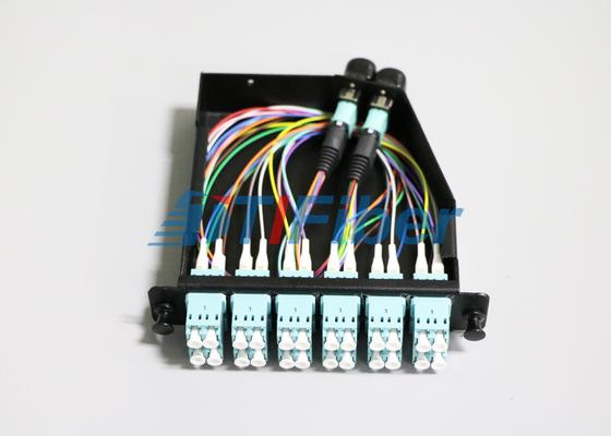 24 πυρήνας OM4 MTP/σκοινί μπαλωμάτων οπτικών ινών MPO για τις κασέτες MPO