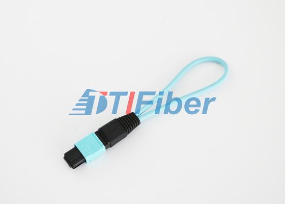 12 πυρήνας OM3 MPO/οπτική ίνα Loopback MTP με τη χαμηλή απώλεια εισαγωγής